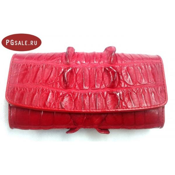 Женская сумка-клатч из ската и питона